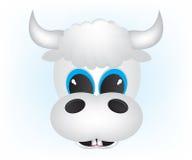 Het beeldverhaalillustratie van de koe Stock Foto