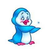 Het beeldverhaalillustratie van de pinguïnbaby royalty-vrije illustratie