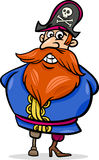Het beeldverhaalillustratie van de piraatkapitein Stock Afbeeldingen