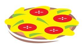 Het beeldverhaalillustratie van de pizza Stock Foto's