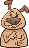 Het beeldverhaalillustratie van de stemmings malle hond Royalty-vrije Stock Afbeeldingen