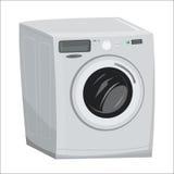 Het beeldverhaalillustratie van de wasmachinewasserij Stock Foto's