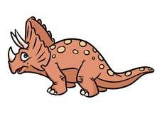 Het beeldverhaalillustratie van dinosaurustriceratops Stock Fotografie