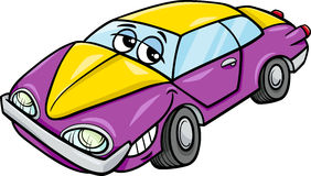 Het beeldverhaalillustratie van het autokarakter Royalty-vrije Stock Afbeeldingen
