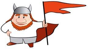 Het beeldverhaalillustratie van Viking Stock Afbeelding