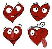 Het beeldverhaaljongen van de valentijnskaart Stock Foto