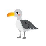 Het beeldverhaalkarakter van de albatrosvogel Stock Foto