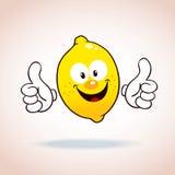 Het beeldverhaalkarakter van de citroenmascotte Stock Fotografie
