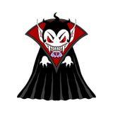 Het beeldverhaalkarakter van de vampiermens Stock Foto