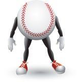 Het beeldverhaalmens van het honkbal Stock Illustratie