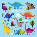 Het beeldverhaalreeks van Dino vector illustratie