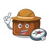 Het beeldverhaalstijl van de ontdekkingsreiziger brownies mascotte royalty-vrije illustratie
