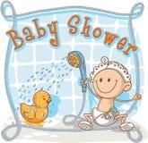 Het Beeldverhaaluitnodiging van de babydouche Stock Foto's