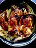Het been van de kip met groenten Royalty-vrije Stock Fotografie
