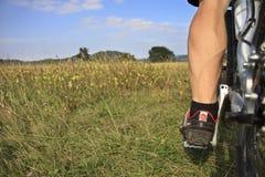 Het been van fietsers Stock Foto's