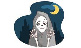 Het been van het Smileyspook in dark Vector Illustratie