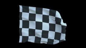 Het begin en eindigt Sportenvlag in een cel 4K royalty-vrije illustratie