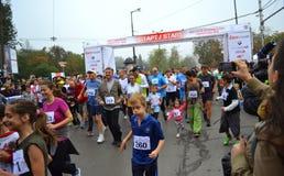 Het begin van de de marathonmassa van Sofia Stock Foto