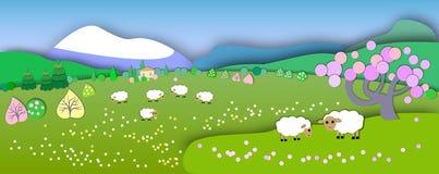 Het begin van de lente Conceptenverandering van seizoenen Bolconcept Royalty-vrije Stock Foto