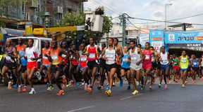 Het Begin van de Marathon van Tiberius Stock Fotografie