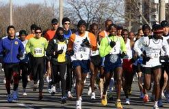 Het begin van de marathon - voorlopers. Stock Foto