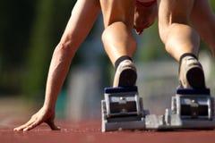 Het begin van de sprint royalty-vrije stock foto