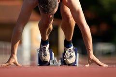 Het begin van de sprint stock foto's