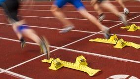 Het begin van de sprint stock foto