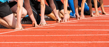 Het begin van de sprint stock fotografie