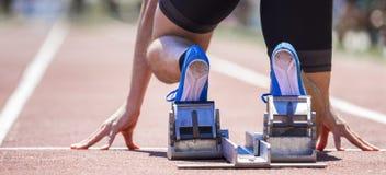 Het Begin van de sprint royalty-vrije stock fotografie