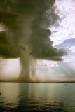 Het begin van de tornado Stock Foto