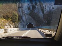 Het begin van de tunnel Stock Afbeeldingen