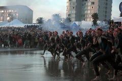 begin van Zuid-Afrika van 2013 het ironman Royalty-vrije Stock Foto's