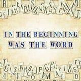 In het begin was het Woord royalty-vrije stock afbeelding