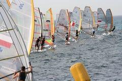 Het beginregatta van Windsurf Stock Foto