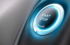 Het Beginsysteem van het autoeinde Stock Foto's
