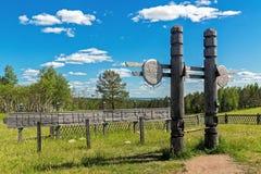 Het begrafenisgebied van polenburyat Baikal stock foto's