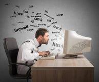 Het begrip van Internet-termijnen Stock Afbeeldingen