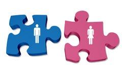 Het begrip van mannen en vrouweninteractie en verhoudingen stock afbeeldingen