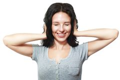 Het behandelen van gesloten oren stock afbeelding