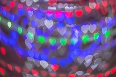 Het behang en de achtergrond van het Blure bokeh hart Royalty-vrije Stock Foto's