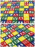 Het behang kleurrijk ontwerp van Abcblokken Royalty-vrije Stock Foto