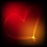 Het behang met gestreept hart Stock Fotografie