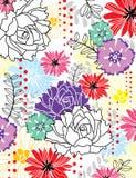 Het behang van bloemen Stock Foto's