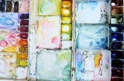 Het behang van de het paletkunst van de Colorfullwaterverf Royalty-vrije Stock Afbeelding