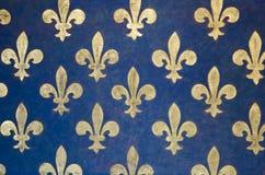 Het behang van DE lis van Fleur Stock Foto's