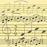 Het behang van de muziek Stock Foto's