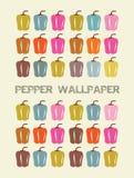 Het behang van de peper royalty-vrije illustratie