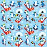 Het behang van de pinguïn Stock Fotografie