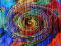 Het behang van de regenboog Stock Foto's